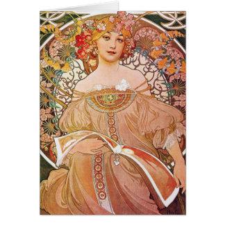 Vintage Alphonse Maria Mucha Art Card