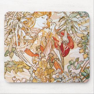 Vintage alphonse mucha goddess mouse pads
