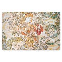 Vintage alphonse mucha goddess tissue paper