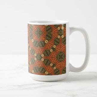 Vintage Altered Art Abstract Fabric Coffee Mug