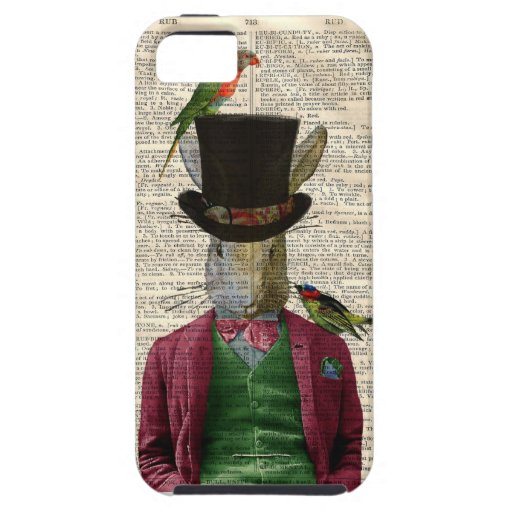 Vintage Altered Art Rabbit Book Page IPhone 5 Case