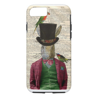 Vintage Altered Art Rabbit Book Page iPhone 7 case