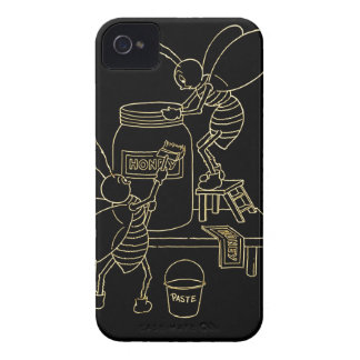 Vintage Altered Light Design Honey Bees Busy Bee iPhone 4 Cases