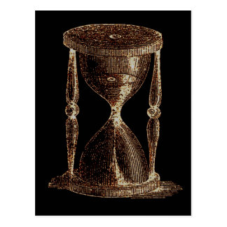 Vintage Altered Light Steampunk Alchemy Hourglass Postcard