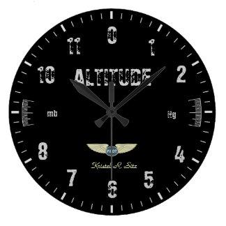 Vintage Altimeter Large Clock