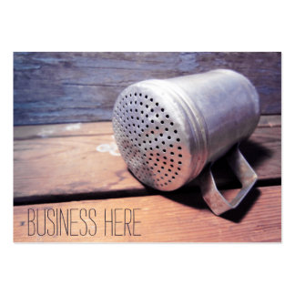 Vintage Aluminum Salt Shaker Retro Inspired Large Business Cards (Pack Of 100)