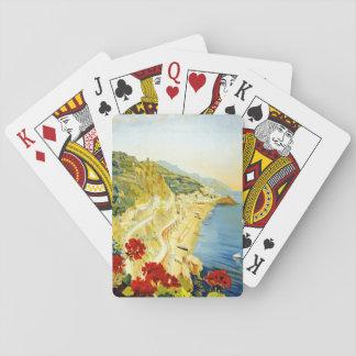 Vintage Amalfa Scenery Travel Poster Poker Cards