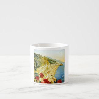 Vintage Amalfi Campania Italy Travel Poster Espresso Cup