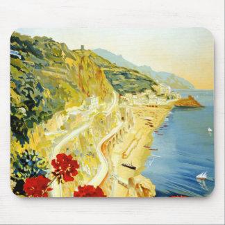 Vintage Amalfi Campania Italy Travel Poster Mouse Pad