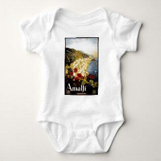 Vintage Amalfi Coast Italia Travel Baby Bodysuit