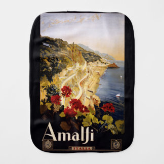 Vintage Amalfi Italy burp cloth