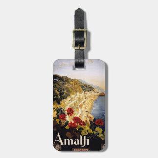 Vintage Amalfi Italy custom luggage tag