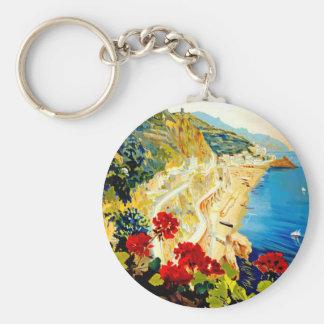 Vintage Amalfi Italy Europe Travel Keychain