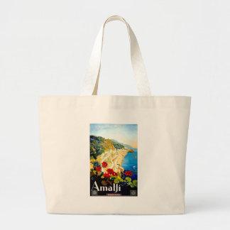 Vintage Amalfi Italy Europe Travel Large Tote Bag