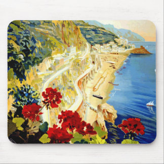 Vintage Amalfi Italy Europe Travel Mouse Pad