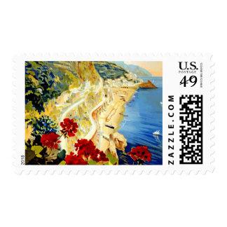 Vintage Amalfi Italy Europe Travel Postage