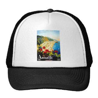 Vintage Amalfi Italy Europe Travel Trucker Hat