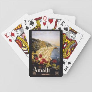 Vintage Amalfi Italy playing cards