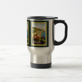 Vintage Amalfi Italy Travel Mug