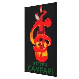 Vintage amargo PosterEurope de Campari Impresión De Lienzo