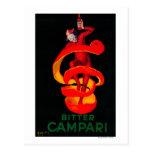 Vintage amargo PosterEurope de Campari Postal