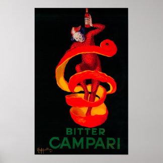 Vintage amargo PosterEurope de Campari Póster