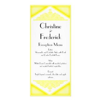 Vintage amarillo oscuro, casando el menú y el prog tarjeta publicitaria personalizada