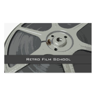 Vintage Amateur Movie Film Reel Graphic Double-Sided Standard Business Cards (Pack Of 100)