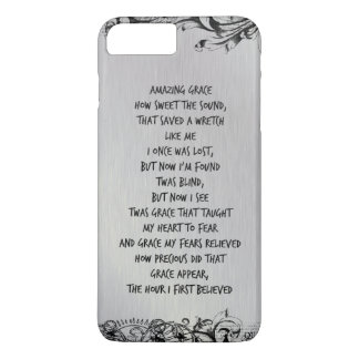 Vintage Amazing Grace Hymn Lyrics iPhone 8 Plus/7 Plus Case