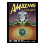 "Vintage ""Amazing Stories"" pulp comic Poster"