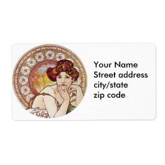 Vintage Amber Art Label