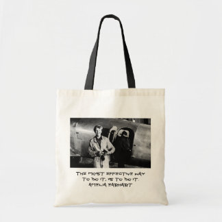 Vintage Amelia Earhart  Photo Budget Tote Bag