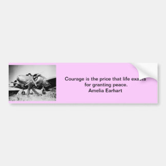 Vintage Amelia Earhart  Photo Bumper Sticker