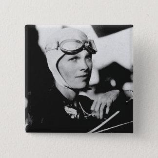 Vintage Amelia Earhart Photo Button