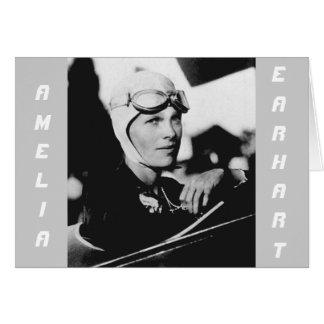 Vintage Amelia Earhart Photo Greeting Card