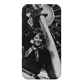 Vintage Amelia Earhart  Photo Cover For iPhone 4