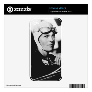 Vintage Amelia Earhart Photo Decal For iPhone 4