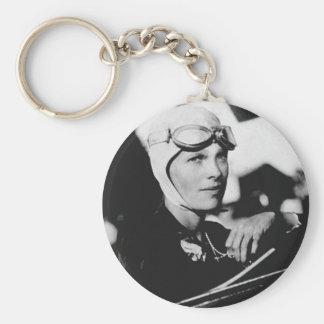 Vintage Amelia Earhart Photo Keychain