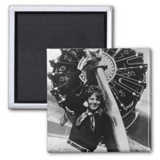Vintage Amelia Earhart  Photo 2 Inch Square Magnet