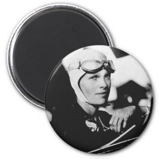 Vintage Amelia Earhart Photo 2 Inch Round Magnet