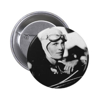 Vintage Amelia Earhart Photo Pinback Button