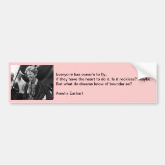 Vintage Amelia Earhart Photo Portrait Bumper Sticker
