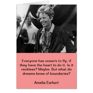 Vintage Amelia Earhart Photo Portrait Card