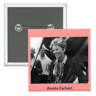 Vintage Amelia Earhart Photo Portrait Pinback Button