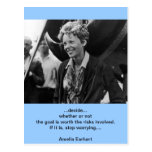 Vintage Amelia Earhart Photo Portrait Post Cards