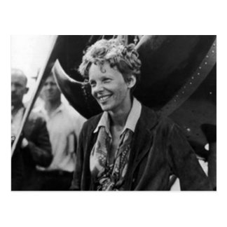 Vintage Amelia Earhart Photo Portrait Postcard