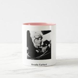 Vintage Amelia Earhart Photo Two-Tone Coffee Mug