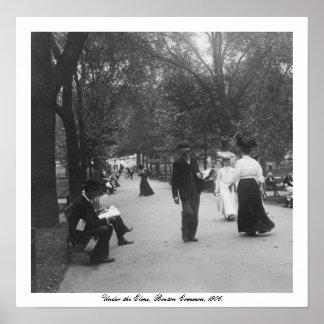 Vintage America, Boston Common, Under the Elms Poster