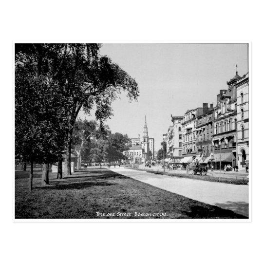 Vintage America, Boston, Tremont street Postcard