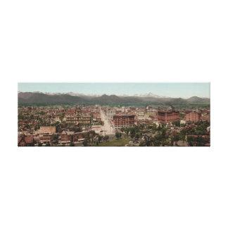 Vintage America, Denver Colorado panorama Canvas Print